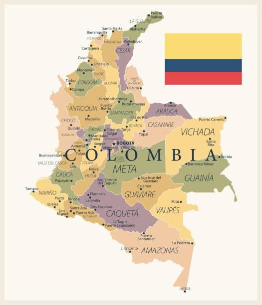 21 - kolumbien - vintage isoliert 10 - bucaramanga stock-grafiken, -clipart, -cartoons und -symbole