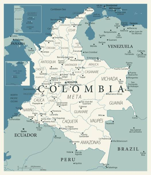 23 - kolumbien - vintage murena 10 - bucaramanga stock-grafiken, -clipart, -cartoons und -symbole