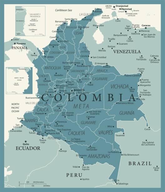 24 - kolumbien - vintage murena isoliert 10 - bucaramanga stock-grafiken, -clipart, -cartoons und -symbole