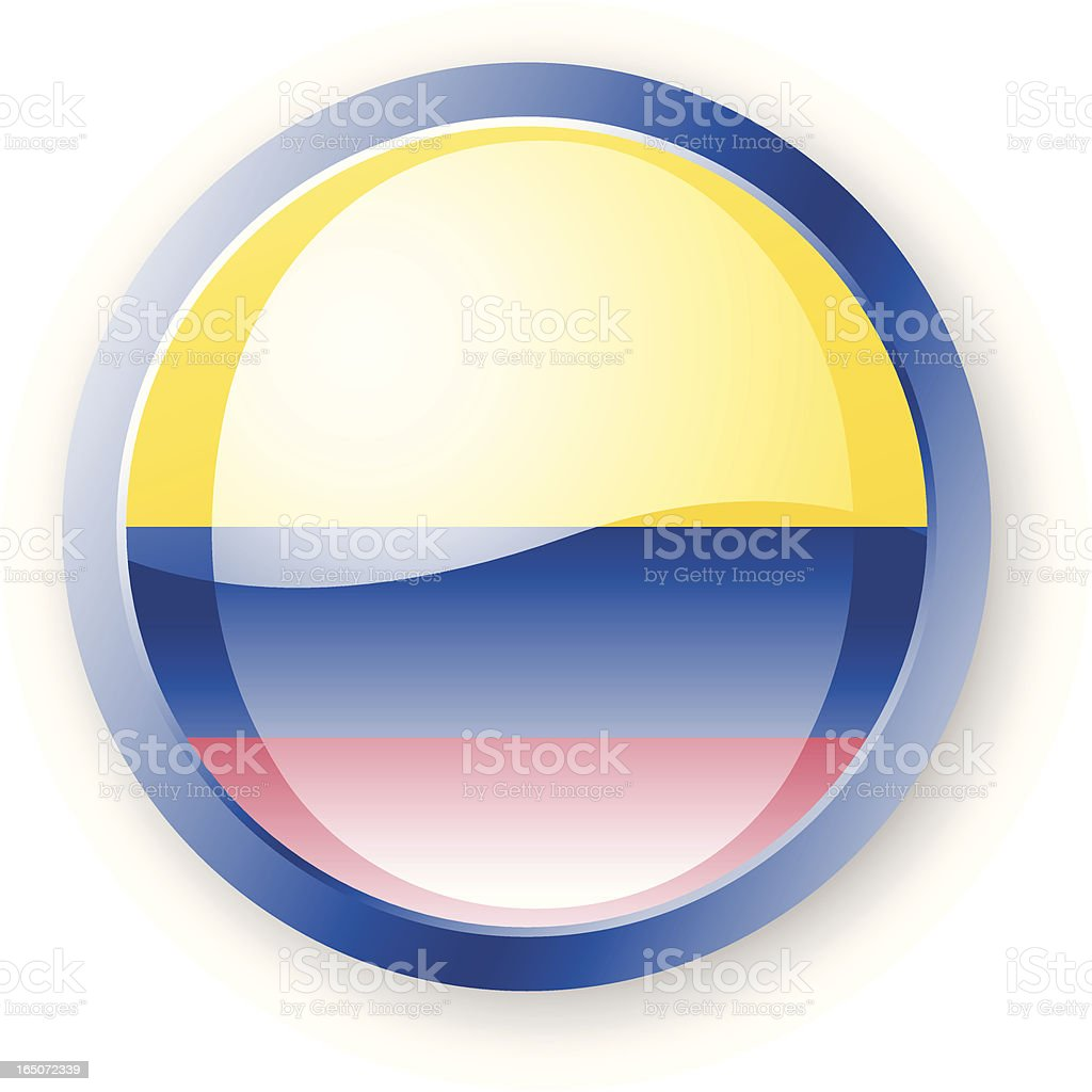 Colombian Flag Icon royalty-free stock vector art