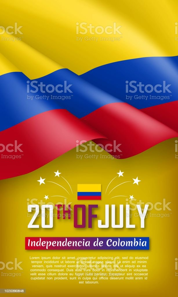 colombian independence day vertical flyer stock vector art more