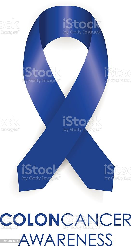 Colon awareness ribbon vector art illustration