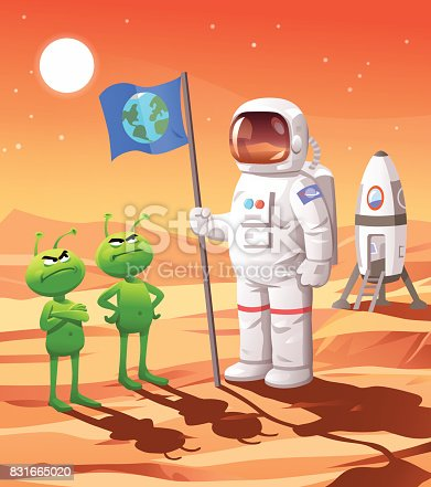 istock Colonizing Mars 831665020