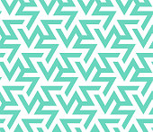 Color 2020. Neo mint,emerald, turquoise zigzag geometric vector seamless pattern. Repeating texture in neo mint colors for background, wallpaper, fashion, cover, textile, print, cloth, textile, wrapping.