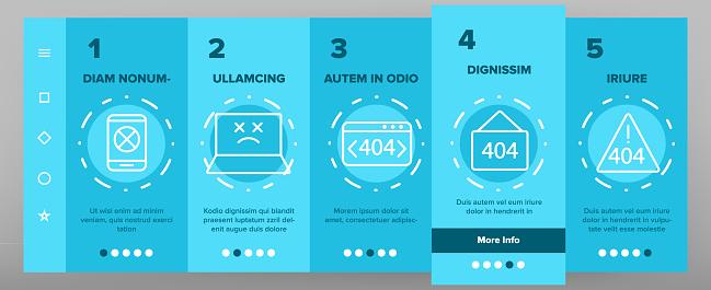 Color 404 HTTP Error Message Vector Onboarding