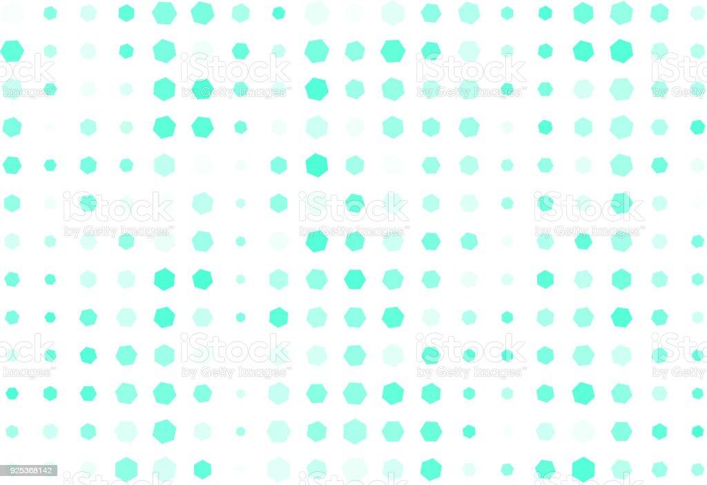 Generative Kunst Hintergrund Farbe Abstrakte Sechseckmuster Form ...
