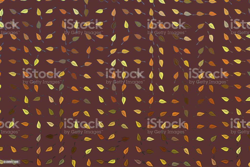 Farbe Abstract Verlässt Zeichnung Muster Generative Kunst Hintergrund.  Design, Tapeten, Vektor U0026 Chaotisch