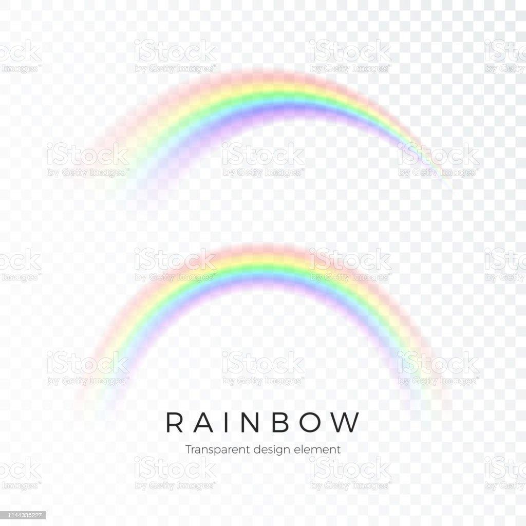 Färg abstrakt regnbåge. Fantasy konst design spektrum av ljus, sju färger. Vektor illustration isolerad på transparent bakgrund - Royaltyfri Abstrakt vektorgrafik