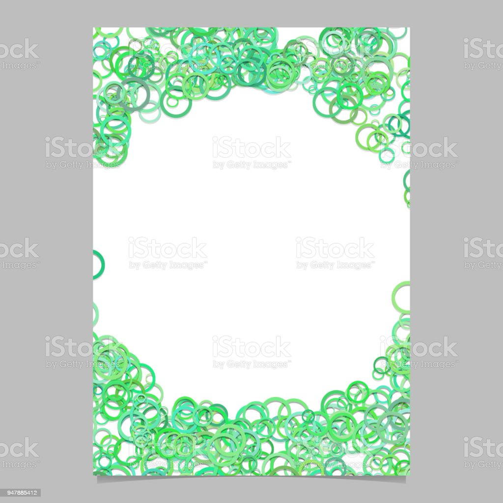 Color Abstract Random Circle Design Flyer Background Template Trendy ...