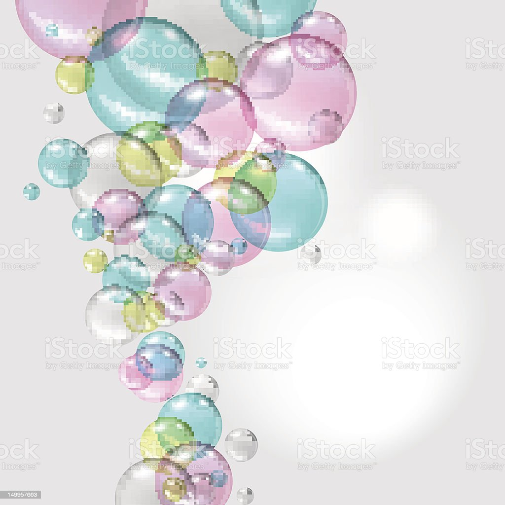 Color abstract with transparent bubbles. Vector background. royalty-free stock vector art