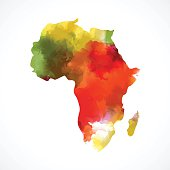 color Africa map.EPS10