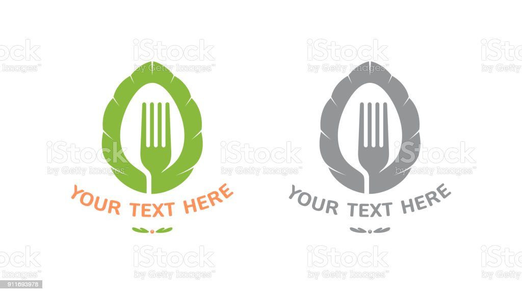 Color And Black Silhouette Icon Symbol For Restaurant Or Fast Food