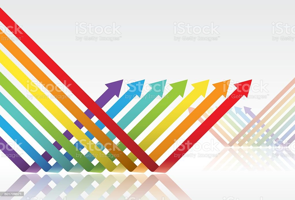 color arrows vector art illustration