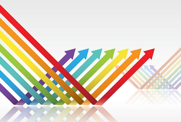 color arrows vector art illustration