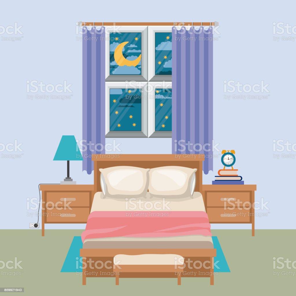 Top Dark Bedroom Clip Art, Vector Graphics And