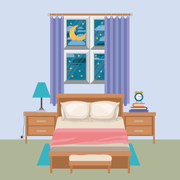 Top Dark Bedroom Clip Art, Vector Graphics And