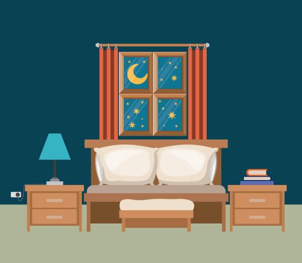 Bedroom Clip Art: Royalty Free Bedroom Dark Clip Art, Vector Images