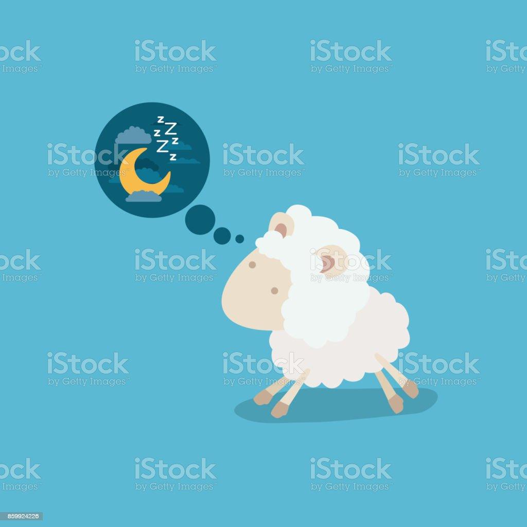 夜考えるかわいい羊の背景を色します アイデアのベクターアート素材や