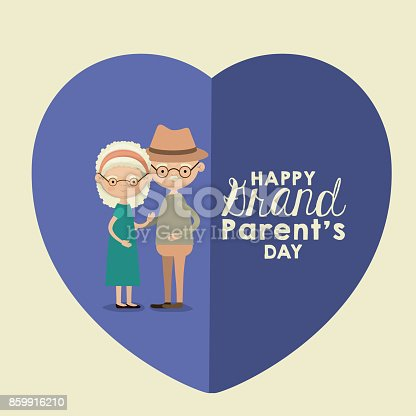 istock color background of heart shape blue greeting card with caricature full body elderly couple embraced happy grandparents day text 859916210