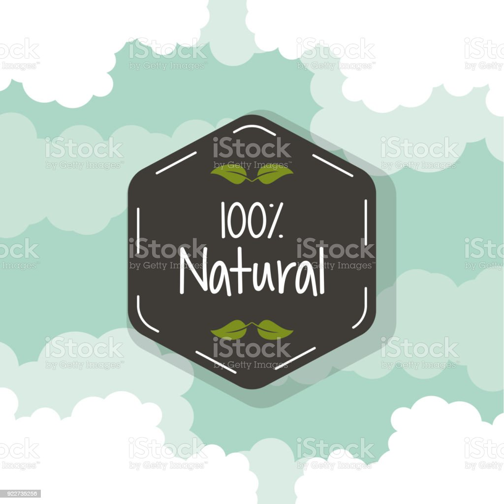 Color Background With Black Hexagon Logo Of One Hundred Percent ...