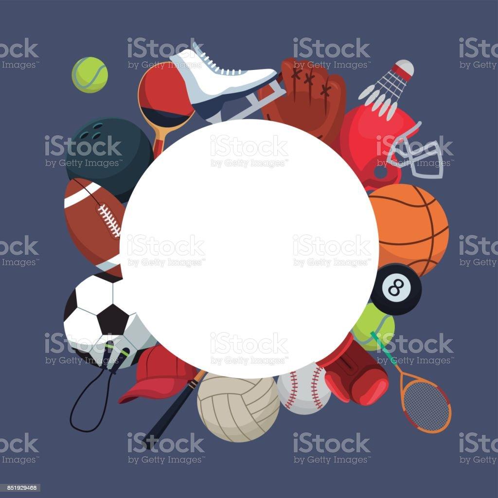 Farbigen Hintergrund Mit Kreisförmigen Rahmen Und Symbole Elemente ...