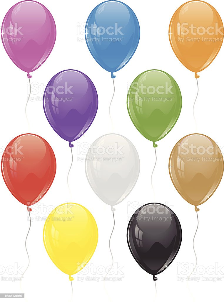 Color Balloons royalty-free color balloons stock vector art & more images of art and craft