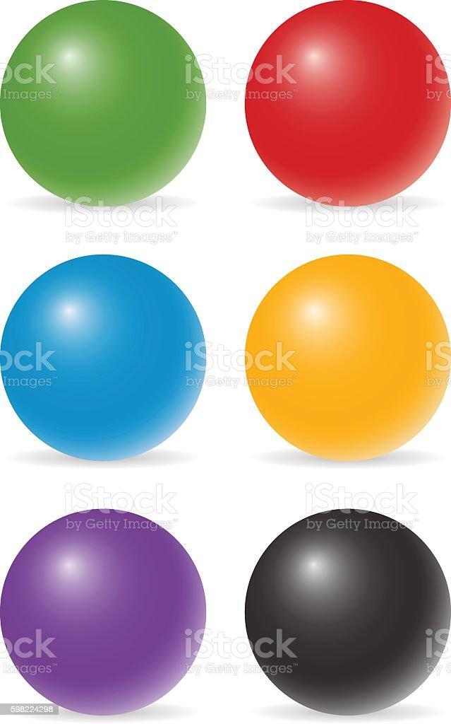 Bolas de cor ilustração de bolas de cor e mais banco de imagens de abstrato royalty-free