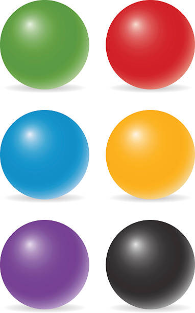 color balls vector art illustration