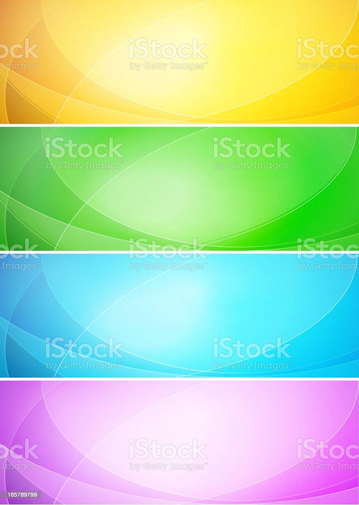 Color banner vector art illustration