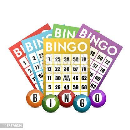 istock Color bingo and balls illustration design 1167876534
