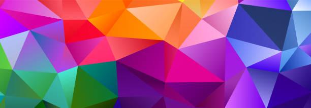 Color Blend Rainbow Trendy Low Poly BG Design Colorful Blend Rainbow Trendy Low Poly BG Design saturated color stock illustrations