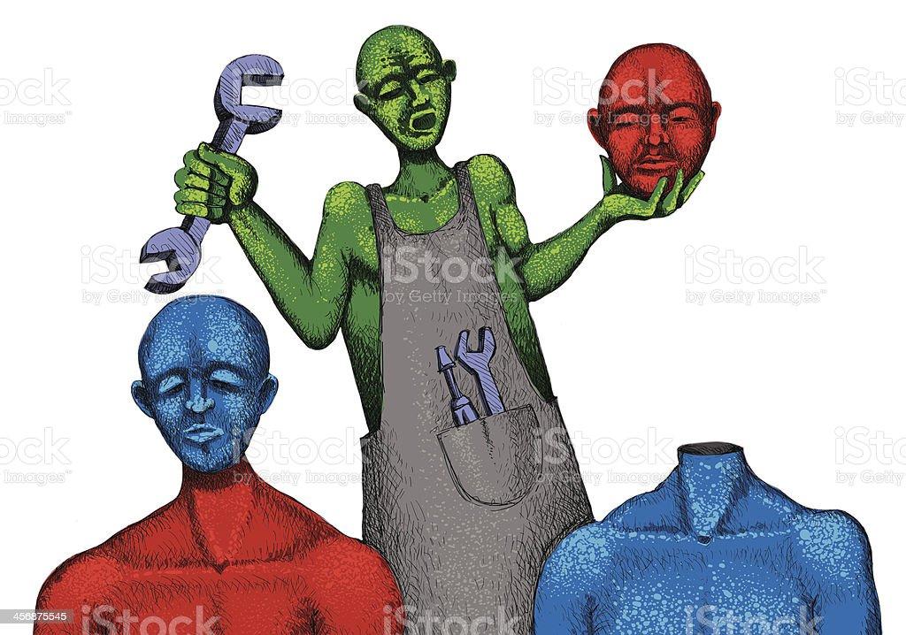 Color blend vector art illustration