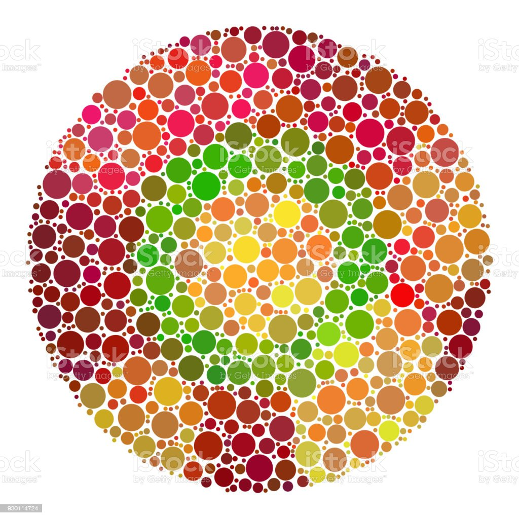 Color Blindness Test For Children Stock Vector Art & More Images of ...