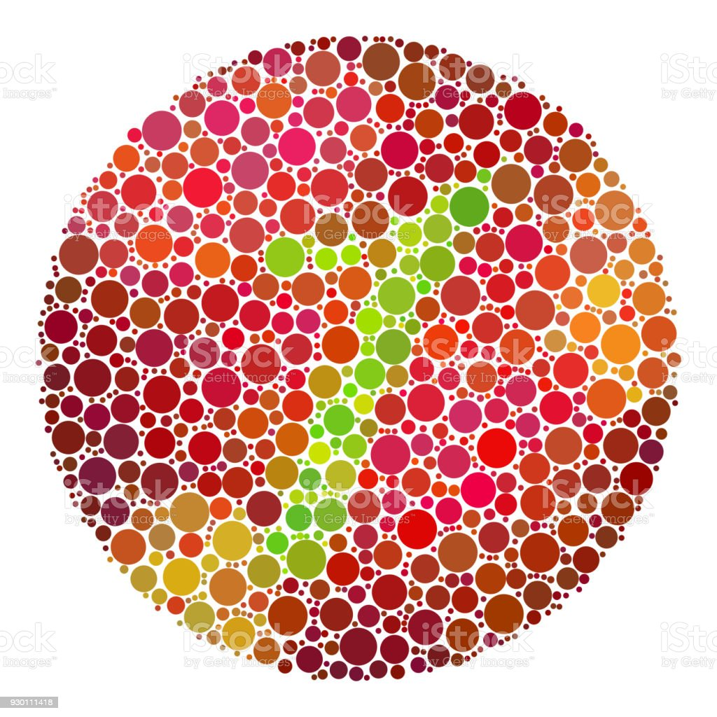 Color Blindness Test Mosaic Stock Vector Art & More Images of ...