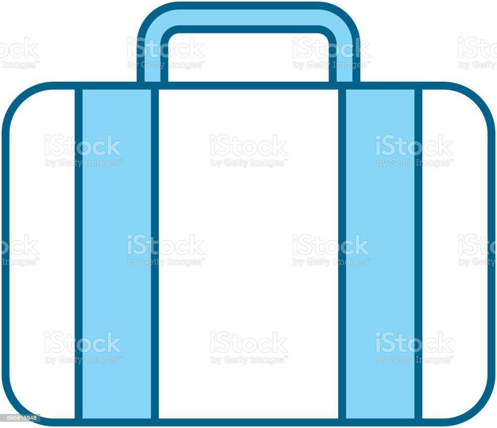Color Blue Suitcase Cartoon Stock Illustration Download Image
