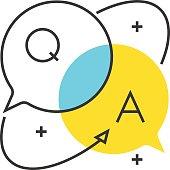 Color box icon, business dialog concept illustration, icon