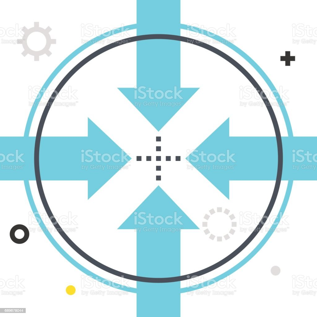 Color Box Icon Connection Illustration Icon Stock Vector