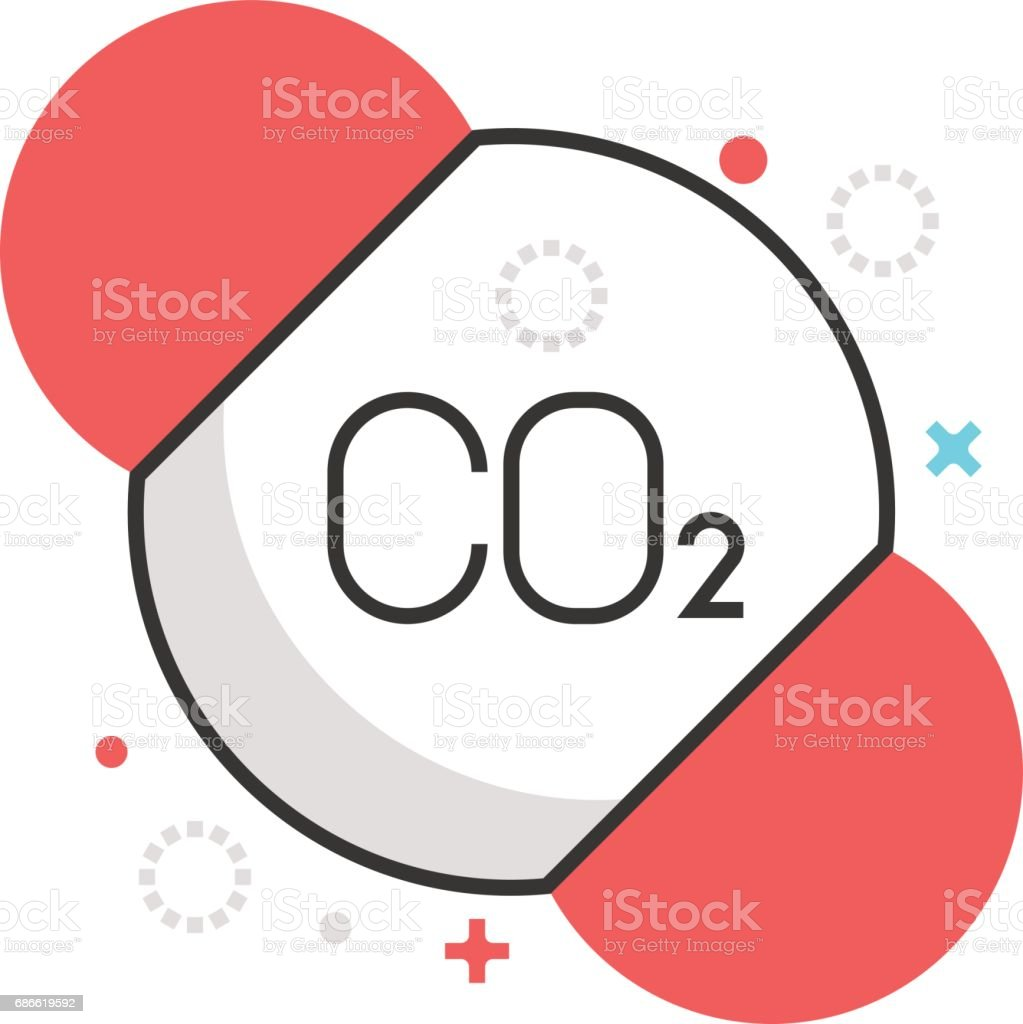 Color box icon, pollution illustration, icon vector art illustration