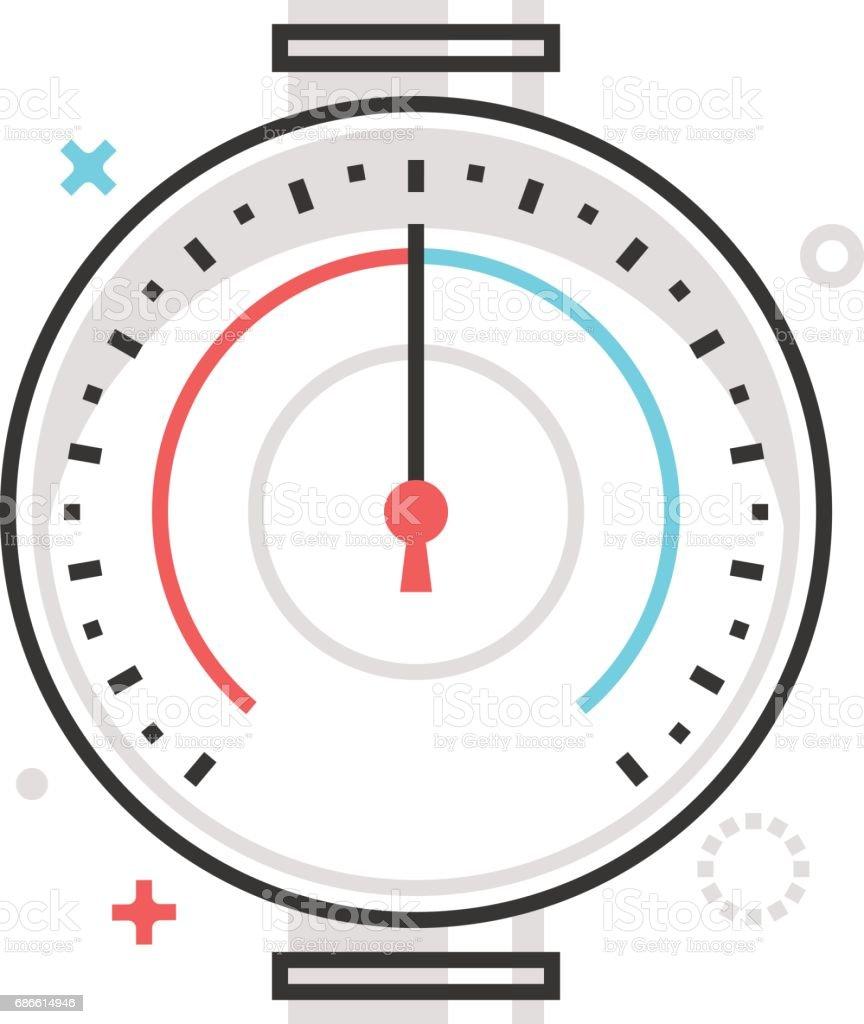 Color box icon, pressure meter illustration, icon vector art illustration