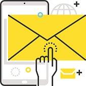 Color box mobile message icon