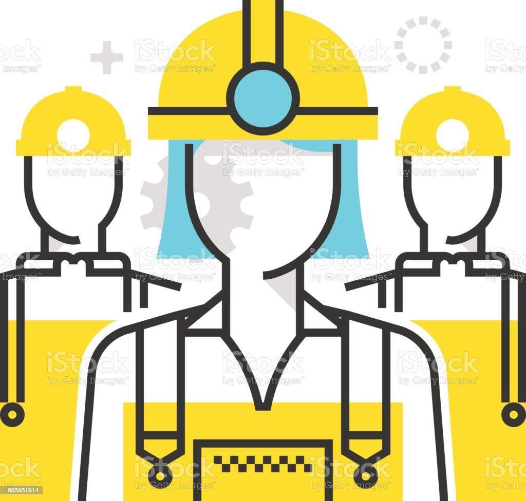 Ein Arbeiter Farbsymbol – Vektorgrafik