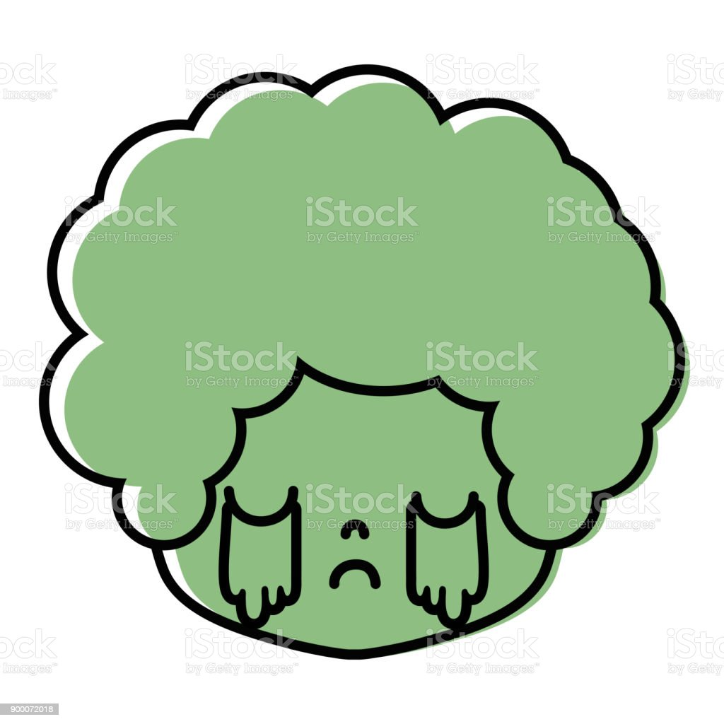 Color Boy Head With Curly Hair And Crying Face Stock Vector Art ...