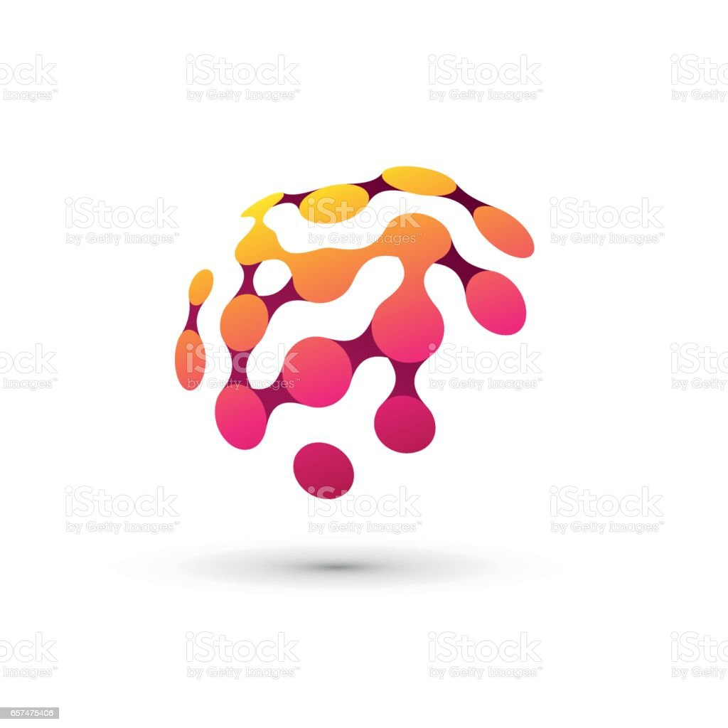color brain logo illustration vector art illustration