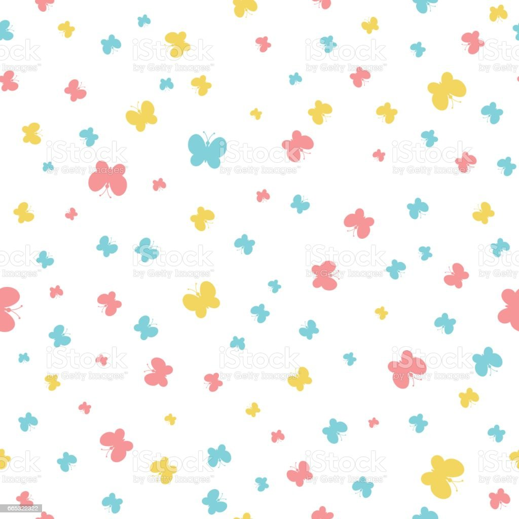 color butterflies vector seamless pattern simple baby background