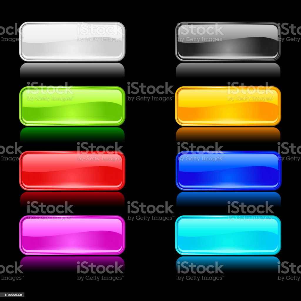 color buttons for internet royalty-free stock vector art