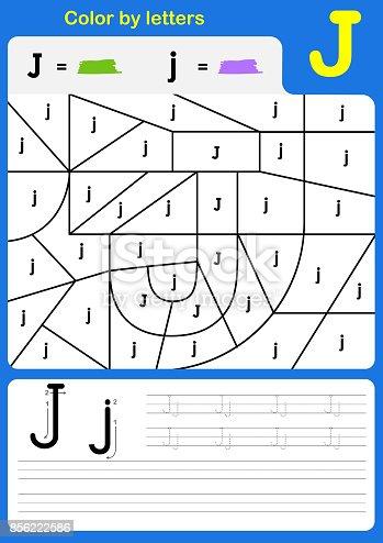 Farbe Von Buchstaben Alphabet Arbeitsblatt Farbe Und Schrift Az ...