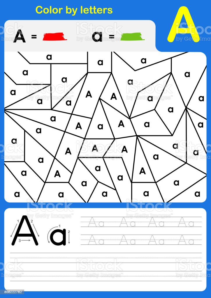 Color by letter alphabet worksheet color and writing az stock vector color by letter alphabet worksheet color and writing a z royalty free color by letter ibookread Read Online