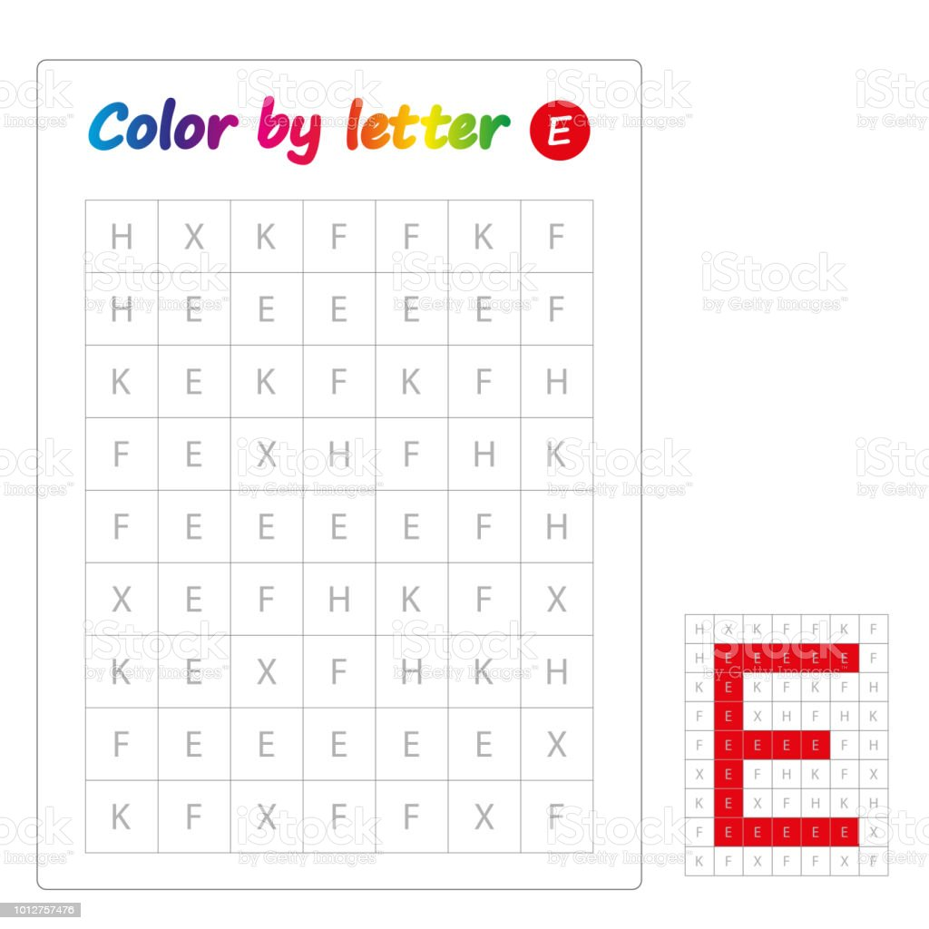 Color By Letters Learning Alphabet Letters Worksheet For Preschool ...