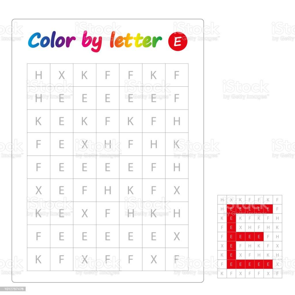 Farbe Von Buchstaben Lernen Alphabet Buchstaben Arbeitsblatt Für ...