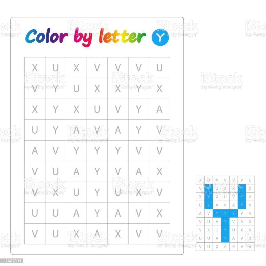 Harflerin Renk Ogrenme Alfabesi Harfleri Okul Oncesi Cocuklar